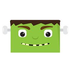 happy halloween cartoon zombie avatar vector image