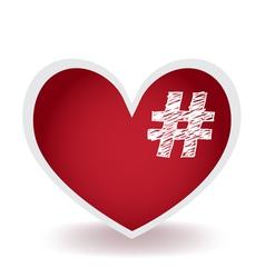 Hashtag Love vector