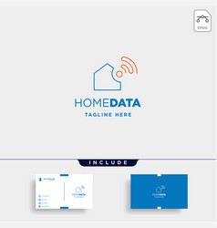 Home internet logo design wifi home icon siymbol vector