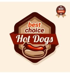 Hot dogs emblem vector