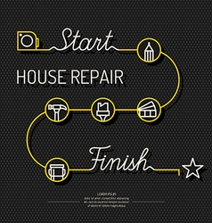 House repair poster vector image