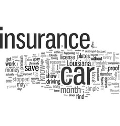 How to get affordable car insurance in louisiana vector