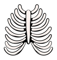 Human rib cage icon icon cartoon vector