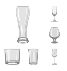 Isolated object of capacity and glassware symbol vector