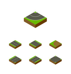 Isometric way set of turning single-lane vector