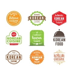 Korean cuisine label vector