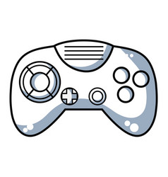 Line videogame controller with buttons to play in vector