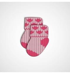 Little knitting socks icon Children theme vector