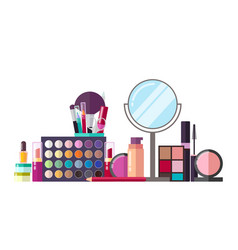 make up set of object poster vector image