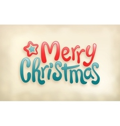 Merry Christmas lettering calligraphy stamp vector