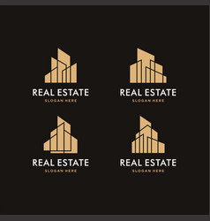 modern building logo and icon vector image