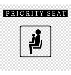 Mom or mother with child sign Priority seating for vector image vector image