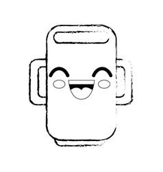 Mug cartoon smiley vector