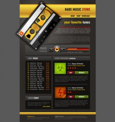 music store brochure vector image