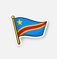 national flag democratic republic congo vector image
