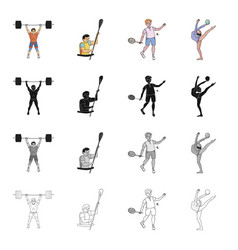 olympicshobbies activities and other web icon vector image
