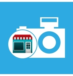 Online market buying picture camera graphic vector