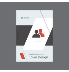 People icon brochure vector