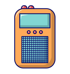 Portable radio icon cartoon style vector