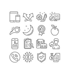 Positive feedback whistle and engineering icons vector