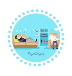 Psychologist Concept Icon Flat Isolated vector image
