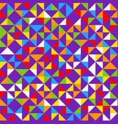 rainbow mosaic tiles abstract geometric vector image