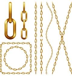 set golden chain vector image