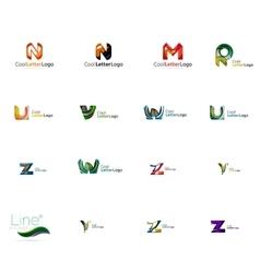Set of universal company logo ideas business icon vector