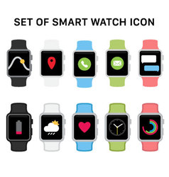 Set smart watches icons vector
