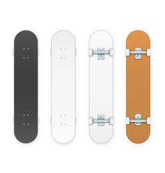 skateboards set vector image