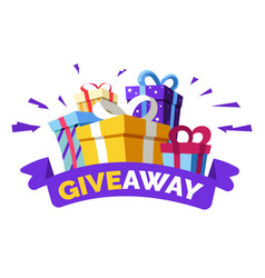 Social media contest giveaway and special offer vector
