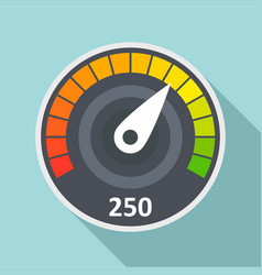 sport car speedometer icon flat style vector image