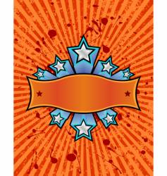 star banner orange vector image