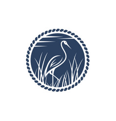 stork icon design template isolated vector image