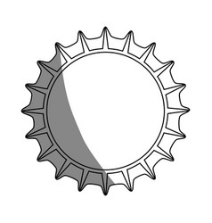 Sun shape icon vector