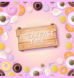Sweet morning template vector