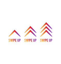 swipe up set stories stories button vector image