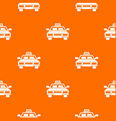 taxi car pattern seamless vector image vector image