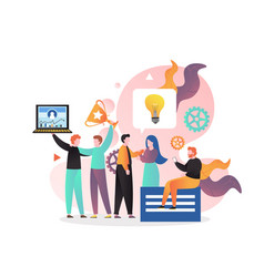 teamwork concept for web banner website vector image