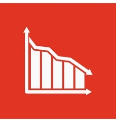 The graph down icon chart below and loss vector