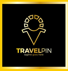 travel sun men place - sunny pin luxury royal vector image
