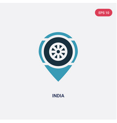 two color india icon from religion concept vector image