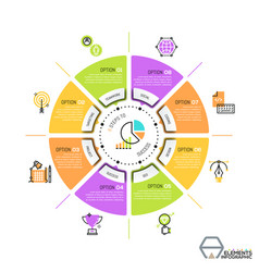 unique infographic design template circular vector image