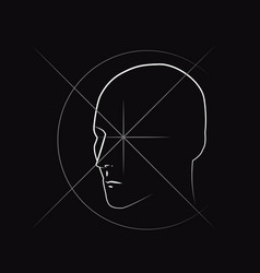 unusual drawing of a contour drawing of a head vector image