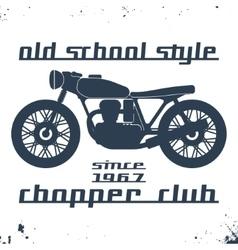 Vintage motorcycle stamp vector