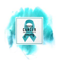 cervical cancer support emblem vector image vector image