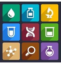Chemical Flat Icons Set 49 vector image