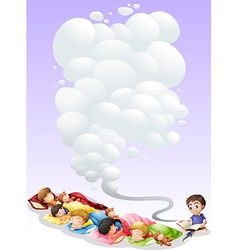 Children taking nap vector image