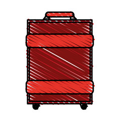 color crayon stripe image travel baggage with vector image vector image