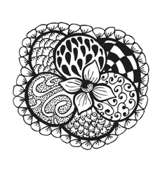 Doodling hand drawn amazing flower and patterns vector image vector image